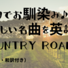 【69】ジブリでお馴染み♪懐かしい名曲を英語でも「Country Roads」(英語歌詞・和訳付き)
