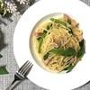 プチプチ食感が美味しい!アイスプラントとベーコンのペペロンチーノの作り方