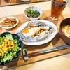 2/3の晩ご飯(たらのホイルやき 牛肉とゴボウの甘辛炒め)牛肉ゴボウ雑レシピ