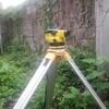 排水工事の為の測量作業