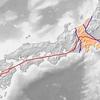 中央構造線と地震