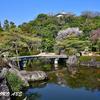姫路城を借景にしたお庭