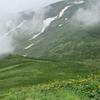 ◆7/29          月山森まで③…「雪渓+ガス」の怖さを知る