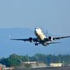 スカイマーク機、離陸です。鹿児島空港にて。