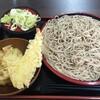 天かめ(牡丹)のもり蕎麦と天盛りのセット