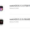 watchOS6.1.3とwatchOS5.3.5が利用可能に