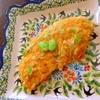 茗荷と枝豆のオムレツ