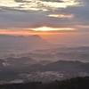 六ヶ岳から眺める直方市の街 福岡県宮若市龍徳