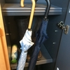 扉の裏に傘収納