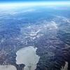 春秋航空 IJ1052(哈爾浜→成田)B737-800 ウラジオストク空港を上空から発見