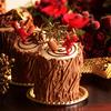 切り株ケーキでメリークリスマス