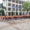 硬いベトナムの校庭