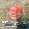 🚩外食日記(469)    宮崎   「マーメイドカフェ(maa-made cafe) 」②より、【シフォンケーキ(黒糖)】【桃のコンポートジュレとヨーグルトのパンナコッタ 】‼️