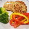 豆腐と合挽のハンバーグ彩り野菜添え