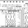 ウォルト・ディズニー・ジャパン株式会社 第29期決算公告