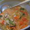 幸運な病のレシピ( 2093 )夜:豚ロースオイルパン焼き、ミニトマト味噌バタースープ(青梗菜・タマネギ)