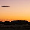 筑波山と朝日を撮影