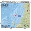2016年12月20日 18時04分 山形県沖でM3.1の地震