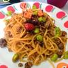 【1食97円】八丁味噌×魯肉飯de枝豆入りミートソースパスタの自炊レシピ