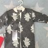 ついに初着衣。ムーミンのオーバーオール。