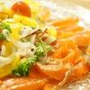 野菜のマリネonスモークサーモン♪とビビンバ丼