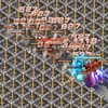 ゲーマルク(キャラ隊)とキュベレイMk-Ⅱ(プル機/ファンネル展開)の攻撃範囲