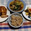 幸運な病のレシピ( 2423 )夜:パイコ糠漬け炙り、鳥手羽糠漬け炙り、生姜焼き、汁