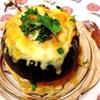 丸ごと南瓜の挽肉詰め(南瓜のファルシ)&ハンバーグとミートスパ