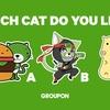 グルーポン・ジャパン公式キャラクターを決めるユーザー投票が開始!日本を代表するネコを決める!