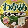 カップラーメン わかめ昆布つゆうどん を食べました