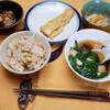 昼食:ニラ玉スープ