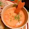 塩ラーメン残り汁リメイクトマト豆乳スープ