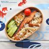 #779 鮭のムニエルとキノコご飯弁当