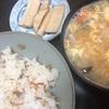 今日のご飯と漬物の仕込み