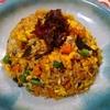 ラオガンマ・チャーハンへの挑戦(3)海鮮什錦豆鼓炒飯の作り方