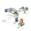 冬は楽しいスキーやソリ遊びに大忙しの子供たち!