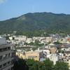 京大病院の某病棟から見える大文字山と京大病院の中