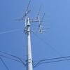 共聴アンテナの撤去工事です。