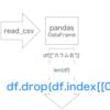 【Python】【pandas】indexを指定してデータ削除