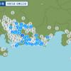 午前6時22分頃に静岡県西部で地震が起きた。