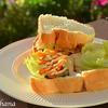 自家製厚切りベーコンの野菜サンド☆