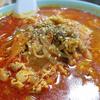 上越市中郷区「越後屋」赤いスープが麺に絡む!人気のカルビラーメン( ^∀^)
