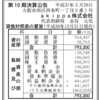 akippa株式会社 第10期決算公告