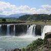 増水した原尻の滝を見に行く