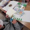 3年生:図工 紙版画 刷って完成へ
