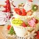 2日遅れのクリスマス(*^-^*)  抹茶とフランボワーズの10層クリスマスケーキとサンタクロースのアイシングクッキー♪♪