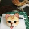 猫人形作り(茶白)⑧
