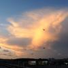 夕暮れ景色~その107『夕焼け雲と満月』