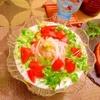 胡瓜と豆乳の冷たい稲庭うどん