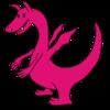 ピンク色のドラゴン のイラスト